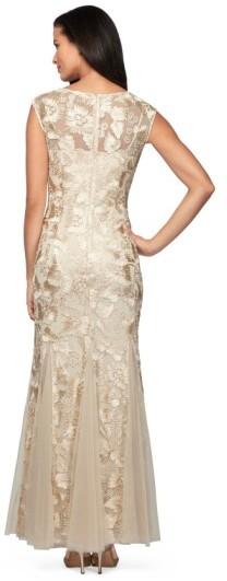 Alex Evenings Women's Tulle Mermaid Gown