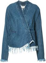 Marques Almeida Marques'almeida - raw hem denim jacket - women - Cotton - XS