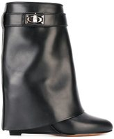 Givenchy 'Shark Lock' boots - women - Calf Leather/Leather - 38