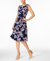 Charter Club Petite Floral-Print Fit & Flare Dress, Created for Macy's