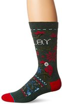 Stance Men's Slay Ride Holiday Floral Arch Support Crew Sock