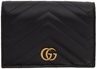 Gucci Black GG Marmont 2.0 Passport Holder