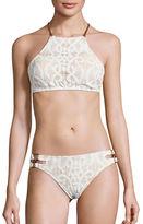 Nanette Lepore Coach Halter Bikini Top