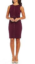 Calvin Klein Zipper Detail Lux Sheath Dress