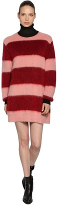 Sportmax Striped Mohair Knit Dress