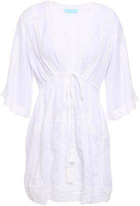 Melissa Odabash Jade Crochet-trimmed Cotton Mini Dress