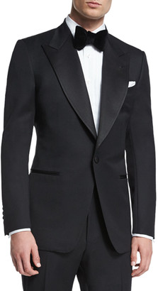 Tom Ford Windsor Base Peak-Lapel Tuxedo, Black