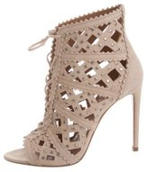 Alaia Studded Laser Cut Booties w/ Tags