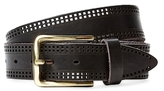 Berge Laser-Cut Leather Belt