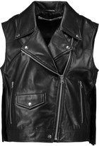 McQ by Alexander McQueen Fringed leather vest