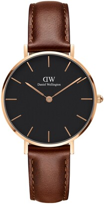 Daniel Wellington St. Mawes Leather Strap Watch, 32mm