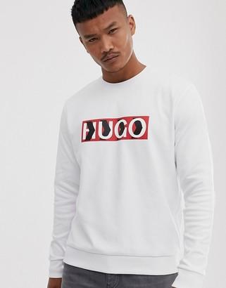 HUGO x Liam Payne chevron logo sweat in white
