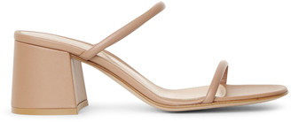 Gianvito Rossi Byblos 60 dark beige leather sandals
