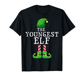Youngest Elf Matching Family Group Christmas Gift Pajama T-Shirt