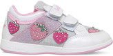 Lelli Kelly Kids Fragola glitter and leather trainers 3-8 years