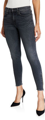 Rag & Bone Cate Mid-Rise Ankle Skinny Jeans with Zippers