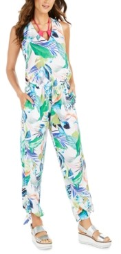 La Blanca In The Moment Floral-Print Jumpsuit Cover-Up Women's Swimsuit