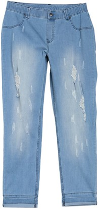 Hue Distressed Cuffed Skimmer Leggings