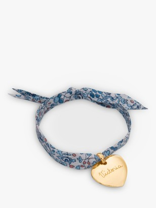 Merci Maman Personalised 18ct Gold Plated Heart Liberty Bracelet