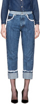 Miu Miu Indigo Lace Straight Boyfriend Jeans