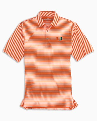 Southern Tide University of Miami Striped Polo Shirt