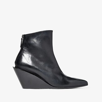 Marsèll Architectural Wedge Boot (Black) Women's Shoes