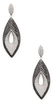 Roberto Coin 18K White Gold Fantasia Black & White Diamond Earrings