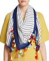 Rebecca Minkoff Sun Surf Sand Repeat Square Scarf