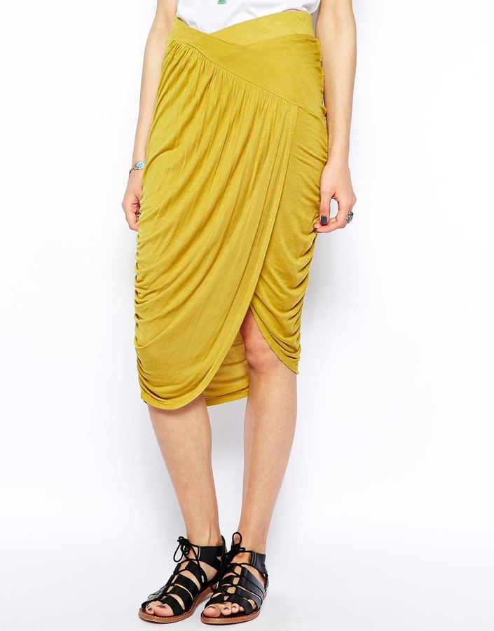 Free People Skirt with Grecian Drape Gathering