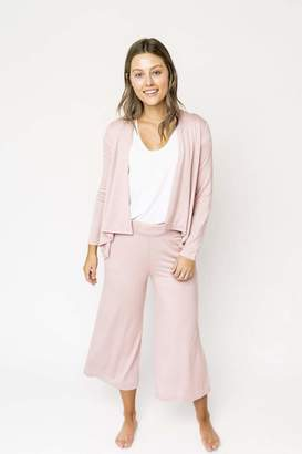 Gibson Super Soft Crop Wide Leg Pant