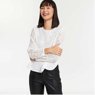 Joe Fresh Women's Lace Blouse, Off White (Size S)