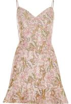 River Island Womens Pink brocade strappy mini dress