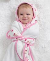 Aden Anais Pink & White Muslin Princess Posie Bath Wrap