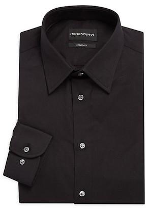 Emporio Armani Modern-Fit Solid Dress Shirt