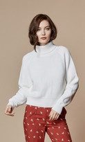 Again Collection - Daphne Turtleneck Sweater In White