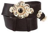 Judith Leiber Embellished Satin Waist Belt