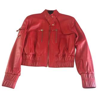 Andrew Marc Red Leather Jacket for Women