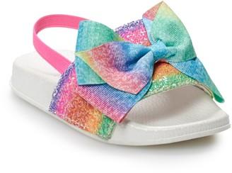 Jo-Jo JoJo Siwa Glitter Toddler Girls' Slide Sandals