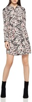 BCBGeneration Chiffon-Shoulder Floral Shirt Dress