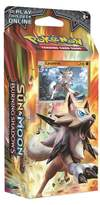 Pokemon Sun Moon Burning Shadows Trading Card Game Theme Deck featuring Lycanroc