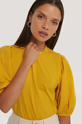 NA-KD Puff Sleeve Jersey Top