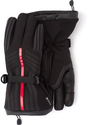 Prada x Gore-Tex logo gloves