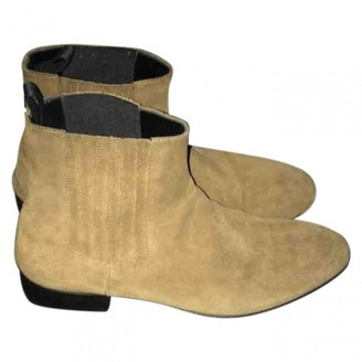 Balenciaga Beige Suede Boots