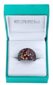 Effy Super Buy Green Sapphire & Tsavorite Sterling Silver Ring