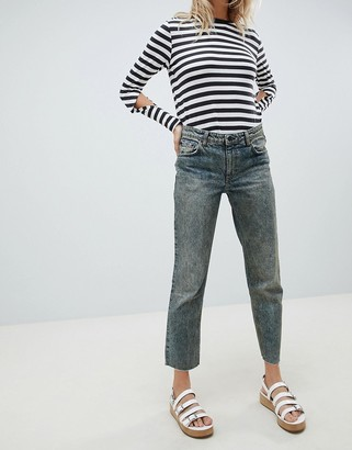 Cheap Monday Revive Cropped Straight Leg Jean-Blue