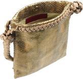 Valentino Metallic python shoulder bag