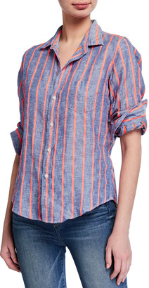 Frank And Eileen Barry Striped Long-Sleeve Button Down Shirt