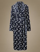 M&S Collection Fleece Heart Print Dressing Gown
