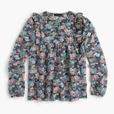 J.Crew Ruffle-front top in paisley floral
