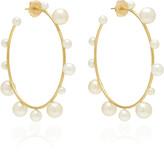 Irene Neuwirth 18K Gold And Pearl Hoop Earrings